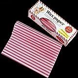 Black Temptation Lebensmittelverpackung Hot Dog Wrapper Wachs Papier Lebensmittel Tissue 50pcs / Pack, 8.4x9.8 Zoll, roter Streifen