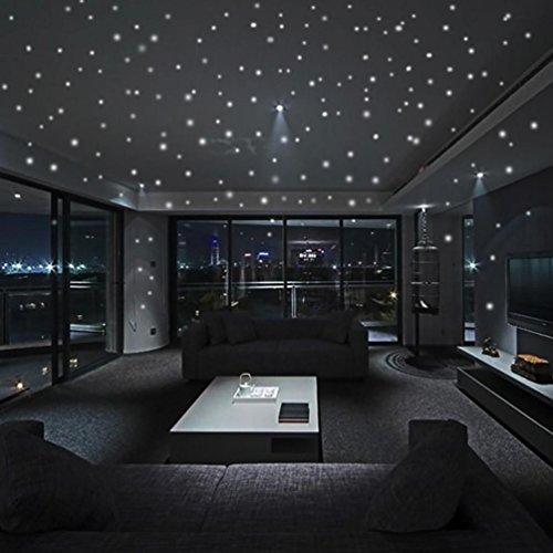 ark Star Wandaufkleber 407 Stücke Runde Dot Luminous Kinder Zimmer Wand Dekor (Glow In The Dark-dekorationen Für Raum)