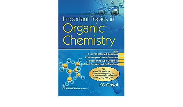 Important Topics In Organic Chemistry eBook: K C  Goyal: Amazon in