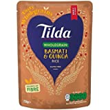 Tilda Brown Steamed Basmati Rice and Quinoa, 250 g, Pack of 6