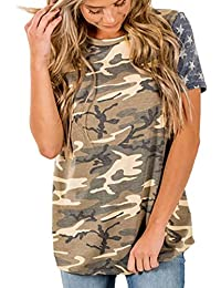 549478ebc314 LILICAT Damen Kurzarm T-Shirt Retro Oberteile Rundhals Tunika Vintage Hemd  Crop Top Sommer Tank