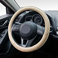 tanyoo sintética resistente fundas para volante de coche (piel, universal 15, antideslizante), diseño de diseño Auto coche funda de volante, color amarillo