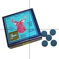 Elkmaster - Juego de punteras de tacos de billar (5 unidades, 12mm, para pegar)