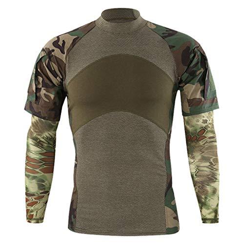 Herren T-Shirt Groß Größe Kurzarmhemd Männer Oberteile Outdoor Basic Tee Nähen Sporttops Bergsteigen Freizeithemd Btruely