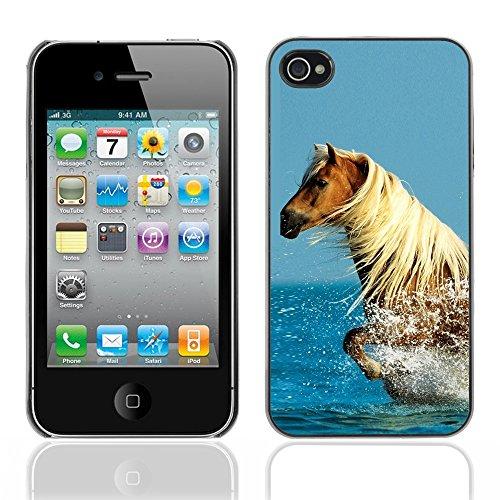 Graphic4You Pferd Tier Design Harte Hülle Case Tasche Schutzhülle für Apple iPhone 4 und 4S Design #6