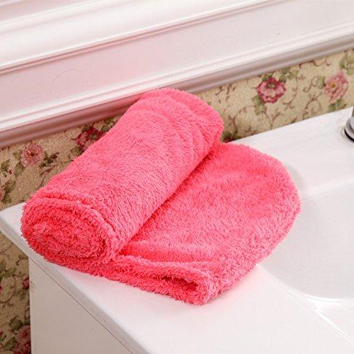 WEIAIXX Super Saugfähige Verdickung Trockene Haare Kappe Shampoo Trockene Haar Handtuch Schnell Trockene Tücher Wickeln Lange Haare Wischen Haar Schnell Wickeln Schal Rot (Kappe Trocken-shampoo)