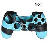 SODIAL (R) Custodia Camouflage protettiva cover in silicone per controller Ps4 Camo Mod HOT - Blu Nero