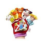 ALIKEEY Kinder Lernspielzeug, Handschuh Tier Fingerpuppen Tuch Puppe Baby pädagogische Hand Cartoon Tier Spielzeug FÜR MÄDCHEN Jungen FÜR MÄDCHEN Jungen