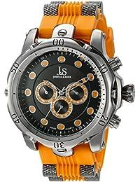 Joshua & Sons Reloj Pantalla analógica cuarzo suizo Naranja para Hombre