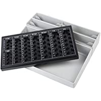HMF 3140 Clasificador de Monedas, 8 Compartimentos para Billetes, 35 x 30,5 x 7,5 cm