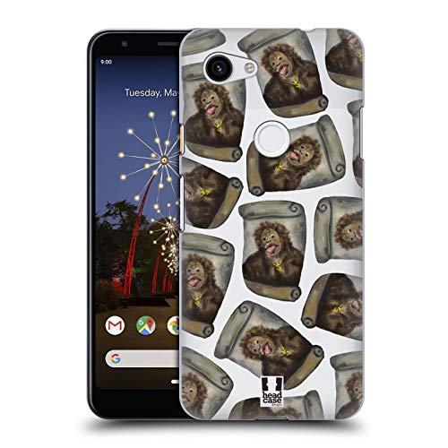 Head Case Designs Kartoffel Chimp Lustige Affen Harte Rueckseiten Huelle kompatibel mit Google Pixel 3a