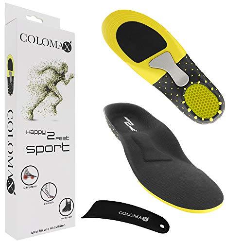 COLOMAX - SPORT - Einlegesohlen ideal für Sport und Alltag - Optimale Dämpfung - Maximaler Halt - Für Damen & Herren (47-50 EU/XL)