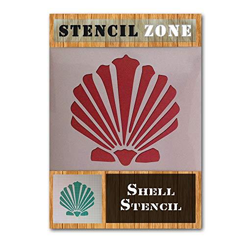 Shell Sea Beach Sand Rocks Mylar Airbrush Painting Wall Art Crafts Stencil 4-XS -