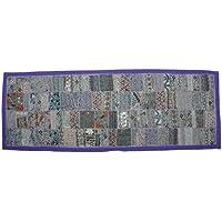 d57338481a233 Decoración del hogar indio mesa manta Patchwork colgante de pared  Glorafilia con Zari