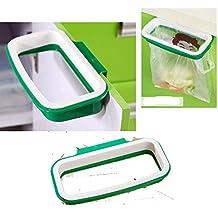 Armadio cucina attaccatura del supporto di plastica sacchetto dei rifiuti.