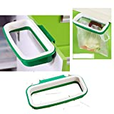 Kitchen Cupboard Hanging Plastic Rubbish Bag Holder.