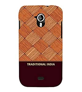 Fabcase classic wooden pattern indian design traditional Designer Back Case Cover for Micromax Canvas HD A116 :: Micromax A116 Canvas HD