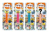 PEZ set de dispensadores Minions edición de verano (4 dispensadores con 3 recargas de caramelos PEZ de 8,5g c/u - 1 dispensador PEZ 2 veces como sorpresa) + 2 paquetes de recargas (8 recargas de caramelos PEZ de 8,5g c/u)