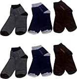 #9: SUPER DEAL BAZZAR STORE Men's Ankle Length Cotton Socks (Pack of 6)