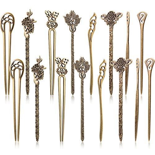 Yaomiao 16 Stück Haar Sticks für Damen Haar Pins Chinesisches Haar Essstäbchen Retro Vintage Dekorative