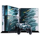 Extreme Sport 041, Windsurfen, Designfolie Sticker Skin Aufkleber Schutzfolie mit Farbenfrohem Design für Playstation 4 CUH 1200