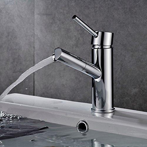 Preisvergleich Produktbild Auralum® Design Waschtischarmatur Niederdruck Wasserhahn Armatur EinhebelmischerMischbatterie Badezimmer Waschbecken 360° drehen