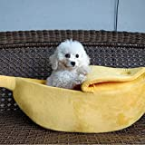 Zhankun Pet Hamster Nest Banana Style Hanging Swing Toys Squirrel Chinchilla Bed Cage Sleep Small Animals Cages - Yellow