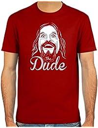 "Pixda Camiseta ""the Dude"" ::: Color: rojo, verde oliva, azul oscuro o negro ::: Tallas: S-XXL"