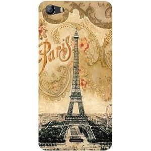 Casotec Vintage Paris Tower Design Hard Back Case Cover for Micromax Bolt Q338
