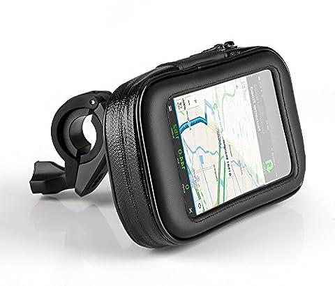 PhoneStar Fahrrad Motorrad Handyhalterung stabile wasserdichte Fahrradhalterung Handyhalter Lenker Tasche für Smartphone, Navi, GPS in Größe