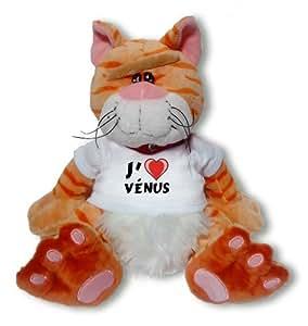 """Peluche chat """"Chibi"""" avec J'aime Vénus"""