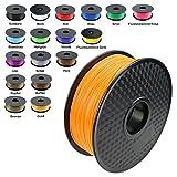 TIANSE Orange 3D PLA Filament 1,75 mm für 3D Drucker 1 kg, Dimensionsgenauigkeit +/- 0,03 mm