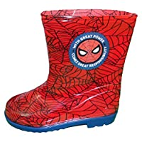 Marvel Spiderman Boys Wellington Shoes