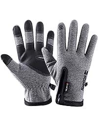 NEEKY LaufHandschuhe Touchscreen Handschuhen WinterHandschuhe für Damen und Herren Warme Leicht Handschuh Winddichte Leichte Rutschfeste Handschuhe für Radfahren Klettern Skifahren Outdoor Sport