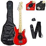 3rd Avenue Stx05bk Guitare électrique Size 1/4 Red
