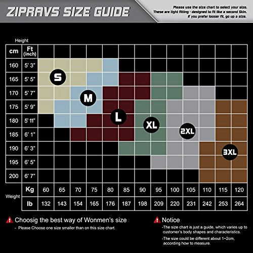 Zipravs Herren Damen Unterwäsche Kompressionshirt Compression Short Sleeve ZCSS-001