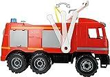 Lena 20101 - Starke Riesen Feuerwehr Mercedes Benz Actros, ca. 65 cm, großes Feuerwehrauto mit 3 Achsen, 1,5 Liter Wassertank, Wasserkanone bis 8 Meter, robustes Spielfahrzeug für Kinder ab 3 Jahre Vergleich