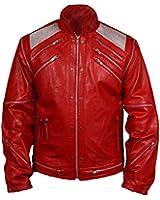 De HLS Hommes Michael Jackson Beat It Red Faux Leather Jacket