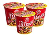 Ottogi Jin Ramen Spicy Korean Style Instant Cup Noodle, 65g - Pack of 3