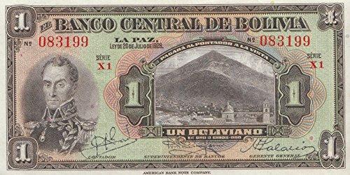 Bolivien Pick-Nr: 118a leicht gebraucht (II) 1928 1 Boliviano (Banknoten für Sammler) -