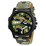#4: Relish Green Army Dial Day and Date Wrist Watch for Boys and Mens (RE-GA943DD)