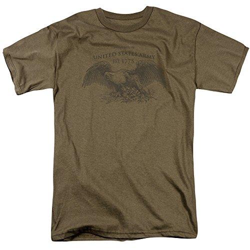 Wicked Tees Herren T-Shirt, Armee, kurzärmlig, Größe XL - Safari-grün-erwachsenen-shirt