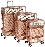 F 23 3-tlg. Hartschalen Trolley-Set, TSA-Schloss, 70 + 60 + 50 cm, ABS, Milano, Roségold, 77070-4
