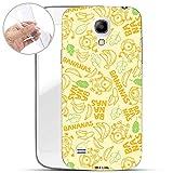 Hülle für Samsung Galaxy S4 Mini - Minions Handyhülle mit Motiv und Optimalen Schutz TPU Silikon Tasche Case Cover Schutzhülle - Bananas Muster