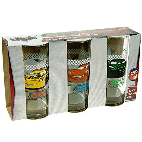 P: OS E560068 Gläserset 3er Cars, Glas, Transparent, cm, 30.4 x 16 x 10.8 cm, 3 Einheiten -