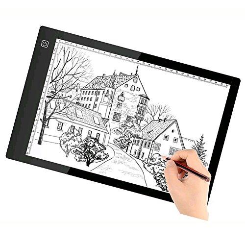 A4 LED Light Box Zeichenbrett - Bestgift Tracing Board USB Power Ultradünne Digitale Tablet Pad Copy Tabelle für Künstler -