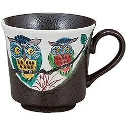 Búho de la taza de la taza del arte de Kutani