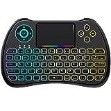 [Layout ITALIANO]Mini Tastiera Retroilluminata, QPAU 2.4Ghz Mini Tastiera Senza...