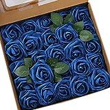 Ksnrang - Rosas de espuma artificiales Estas rosas están hechas de espuma de látex suave de alta calidad que les da el aspecto de rosas frescas. La cabeza de rosa es de aproximadamente 7,6 cm. Cada rosa tiene su propio tallo de alambre que es...