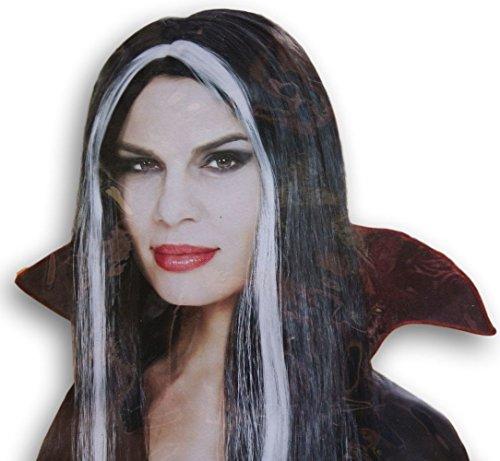 spooky-witch-wig-hexen-perrcke-fr-erwachsene-lange-schwarze-haar-mit-silber-streifen-damen
